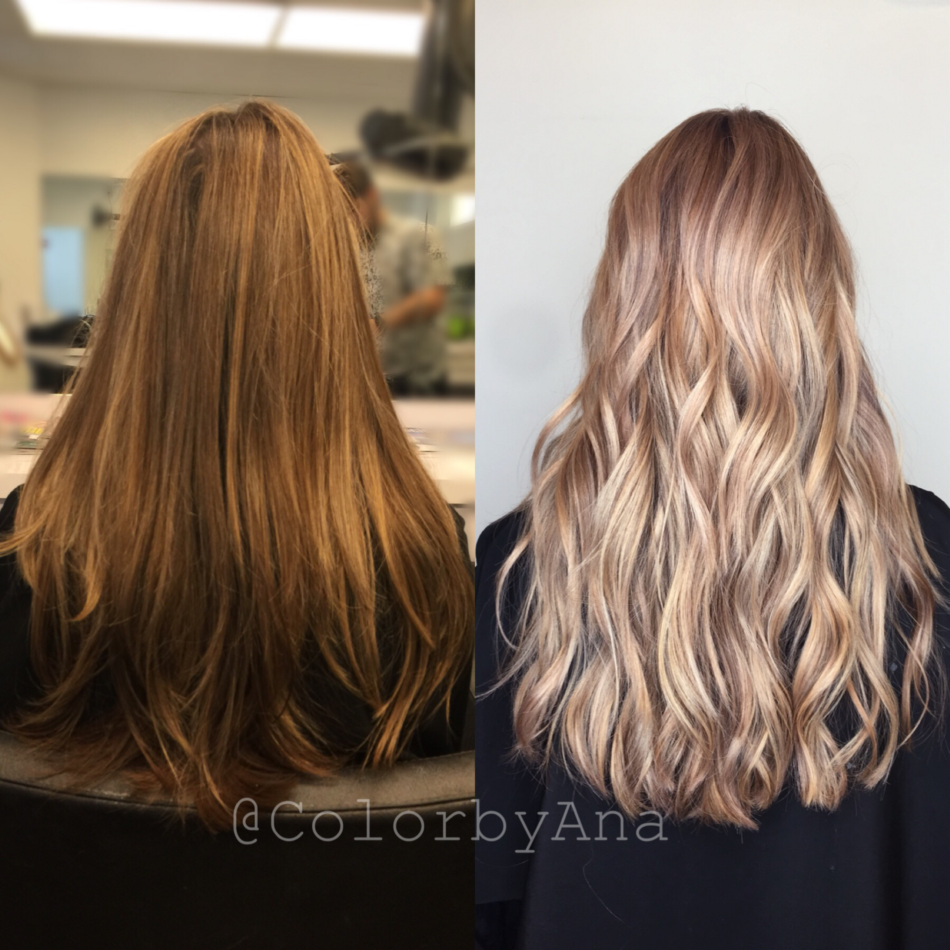 Color By Colorbyana Before And After Blonde Balayage Cristophe