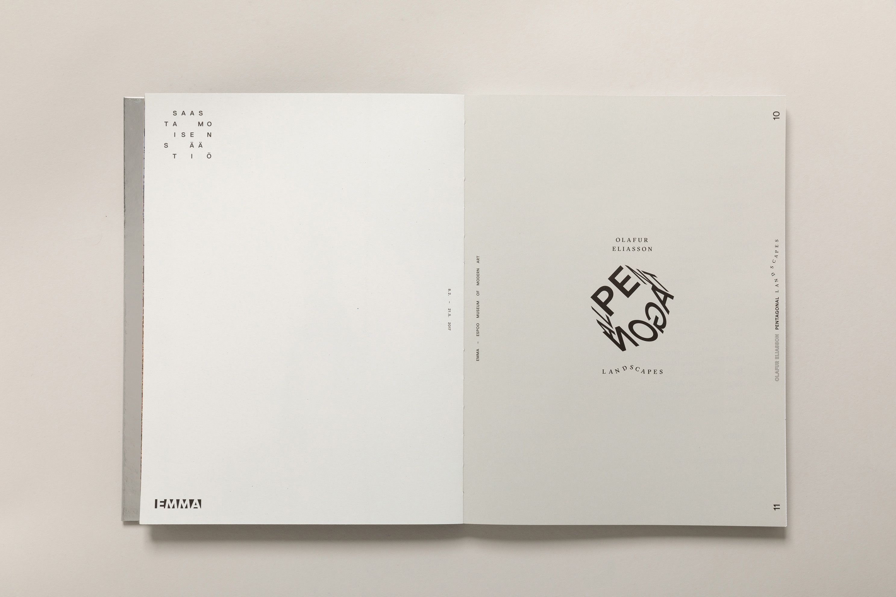 Olafur Eliasson: Pentagonal Landscapes exhibition catalogue. book ...