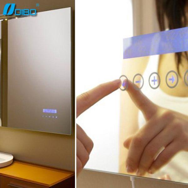 Bathroom Smart Mirror With Mp3/bluetooth/radio/clock/temperature   Buy  Bathroom Smart Mirror,Smart Mirror,Bathroom Mirror Product On Alibaba.com