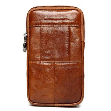 3a1480f0e Bolsa lumbar de cuero genuino de patrón de cocodrilo bolsa de móvil en  bandolera para hombres