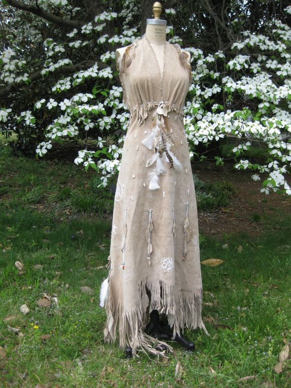 Reserved for hazma leather wedding dress native american for Wedding dresses in sale
