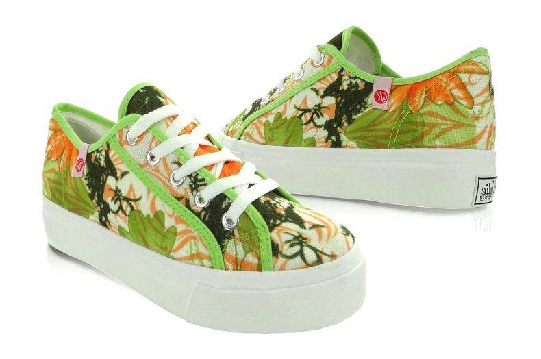Trampki Gruba Podeszwa K145403 Multicolor Zielone Sneakers Shoes Converse Sneaker