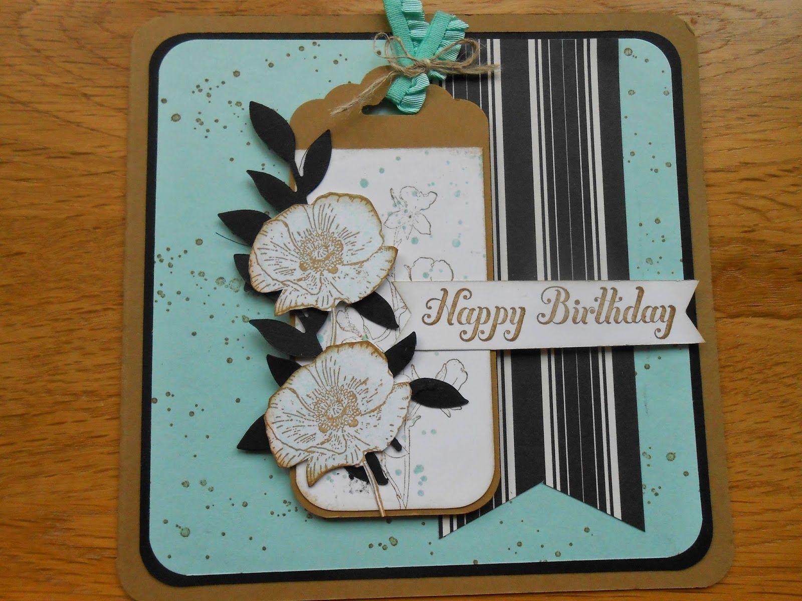 Happy watercolour card by Linda Gilbert www.lindascraftroom.blogspot.com  Stampin Up