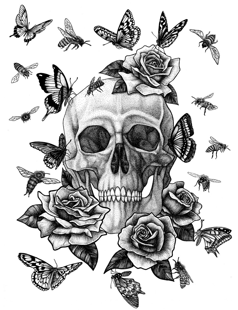 Vanité n°23 - Marianne Blanchard  Tatouage homme, Illustration et