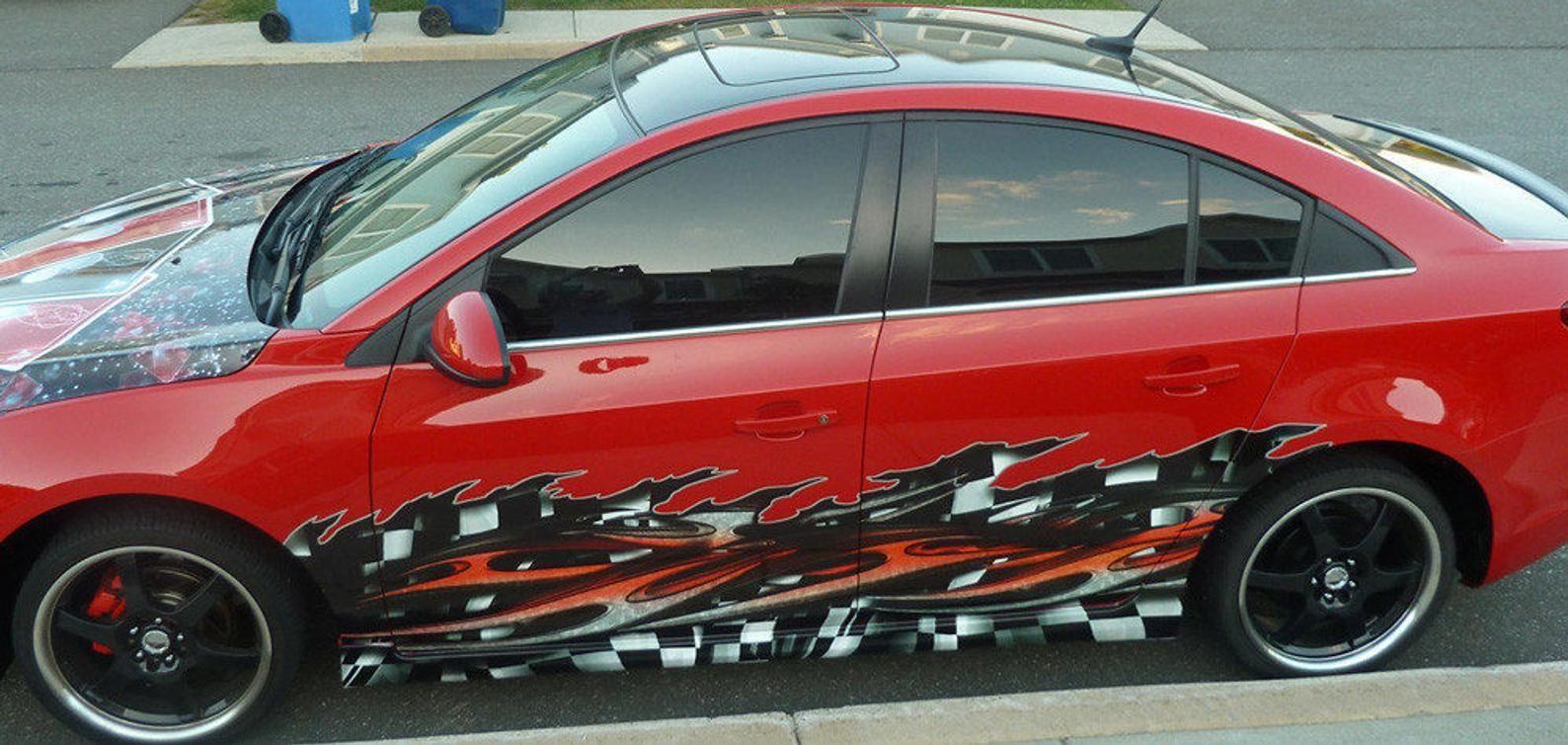 Tribal Checkered Flag Car Racing Vinyl Wrap Kit Etsy Checkered Flag Car Decals Vinyl Car [ 754 x 1588 Pixel ]
