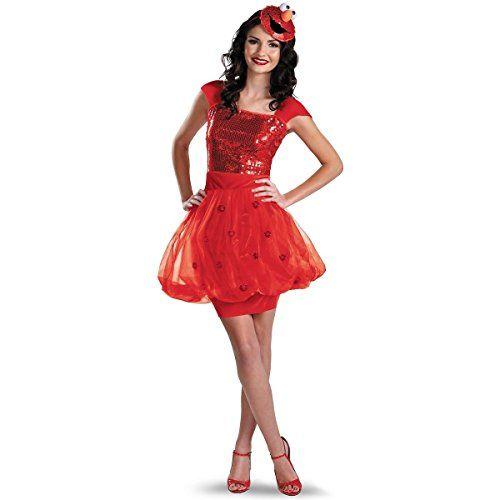 gsg elmo costume adult womens sesame street funny halloween fancy dress - Halloween Costumes Elmo