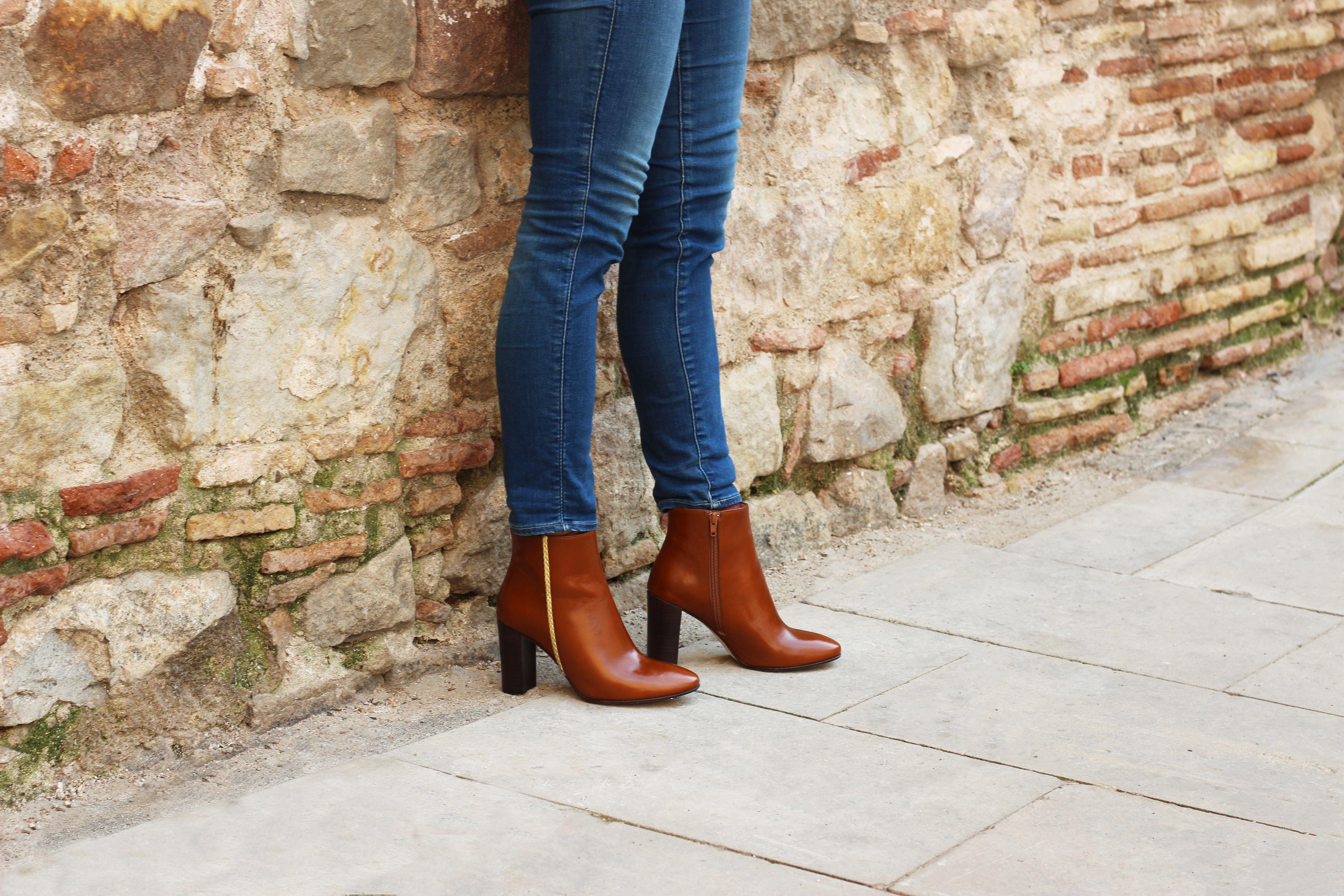 bottines femme cuir marron clair