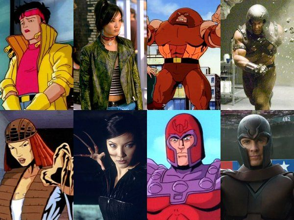 X Men Characters Cartoons Vs Movies Pics Xmen Characters X Men Comic Book Heroes