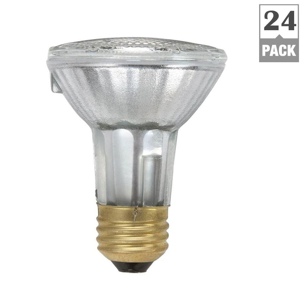 Philips 50 Watt Par20 Equivalent Halogen Indoor Outdoor Flood Light Bulb 24 Pack 419762 The Home Depot Light Bulb Halogen Light Bulbs Bulb