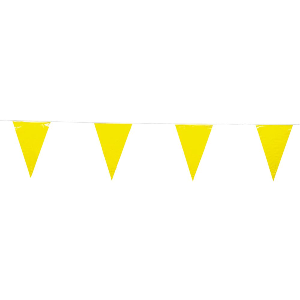 Yellow plastic pennant banner pennant banners banners and products