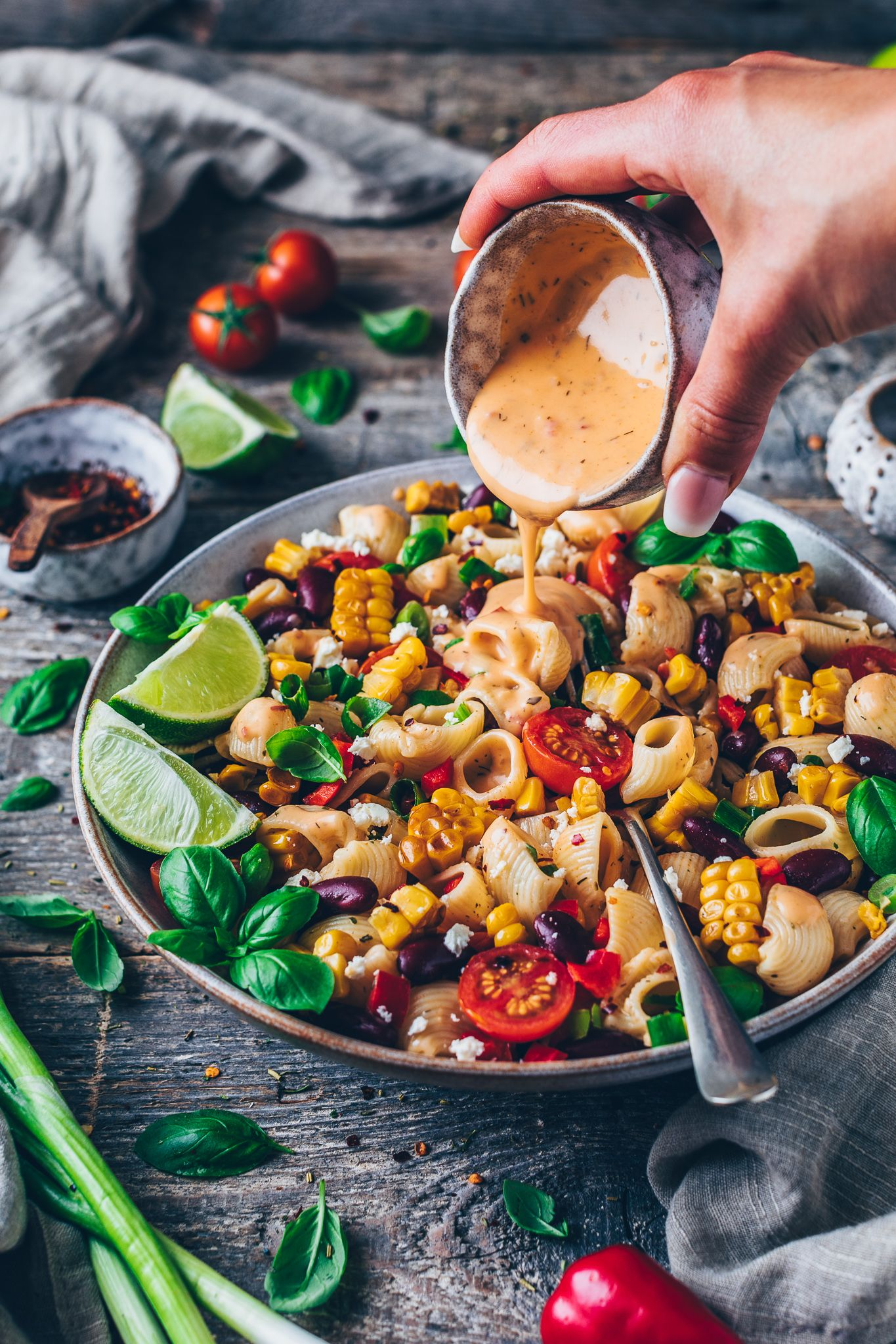 Photo of Mexican Pasta Salad with Chipotle Sauce | Vegan – Bianca Zapatka | recipes
