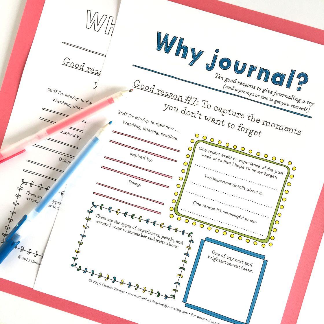 Why Journal Good Reason 7