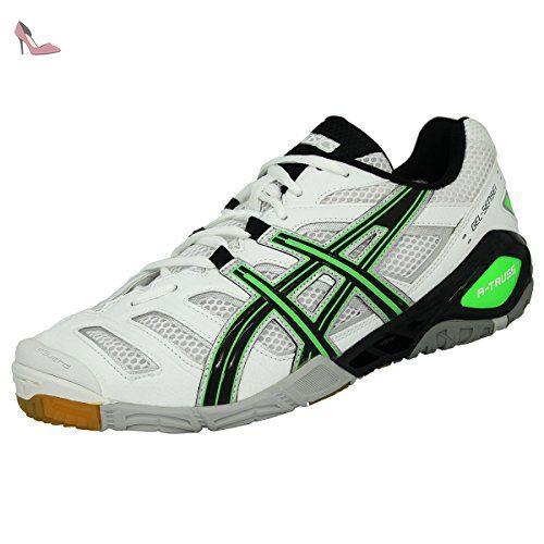 Asics Gelsensei 6 Blanc-Noir-Vert - Chaussures Baskets basses Homme