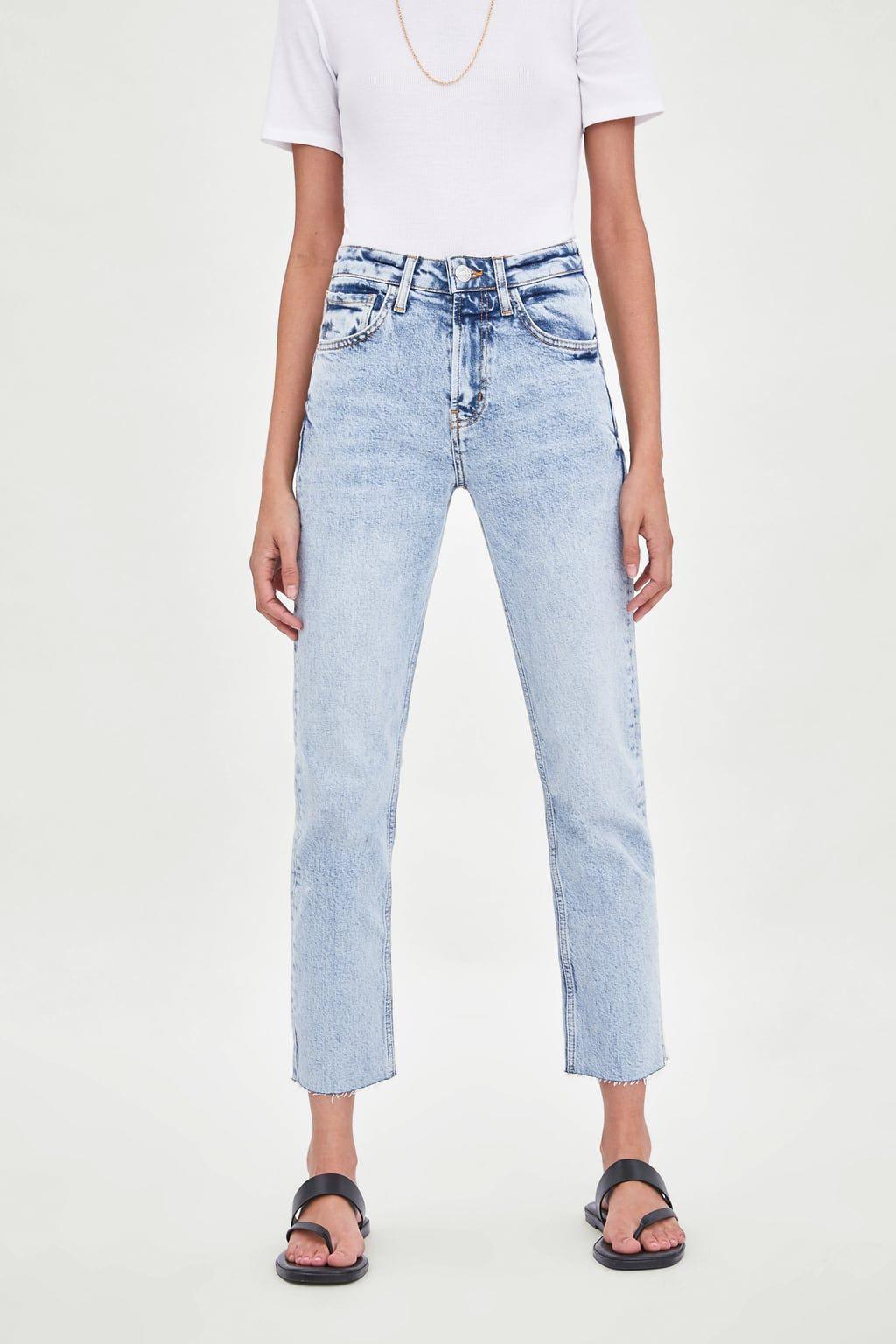 W2019 Dopasowane Spodnie Jeansowe Z Wysokim Stanem Zobacz Wiecej Jeansy Kobieta Zara Polska Slim Fit Zara Jeans
