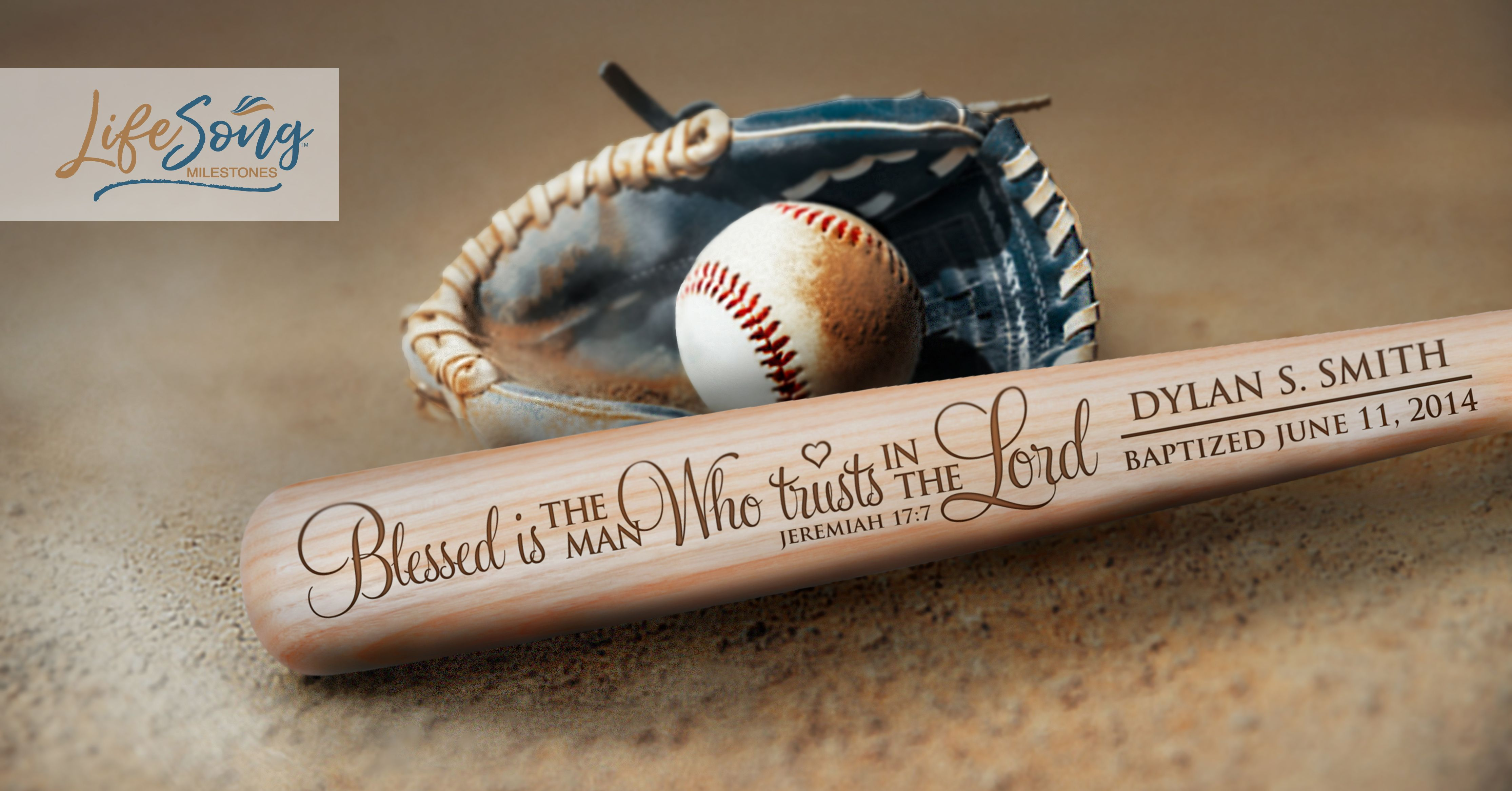 Customized Personalized Your Text Here Wood Mini Custom Baseball Bat Wedding Gro
