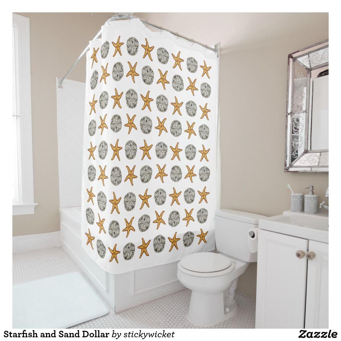 Superior Starfish And Sand Dollar Shower Curtain
