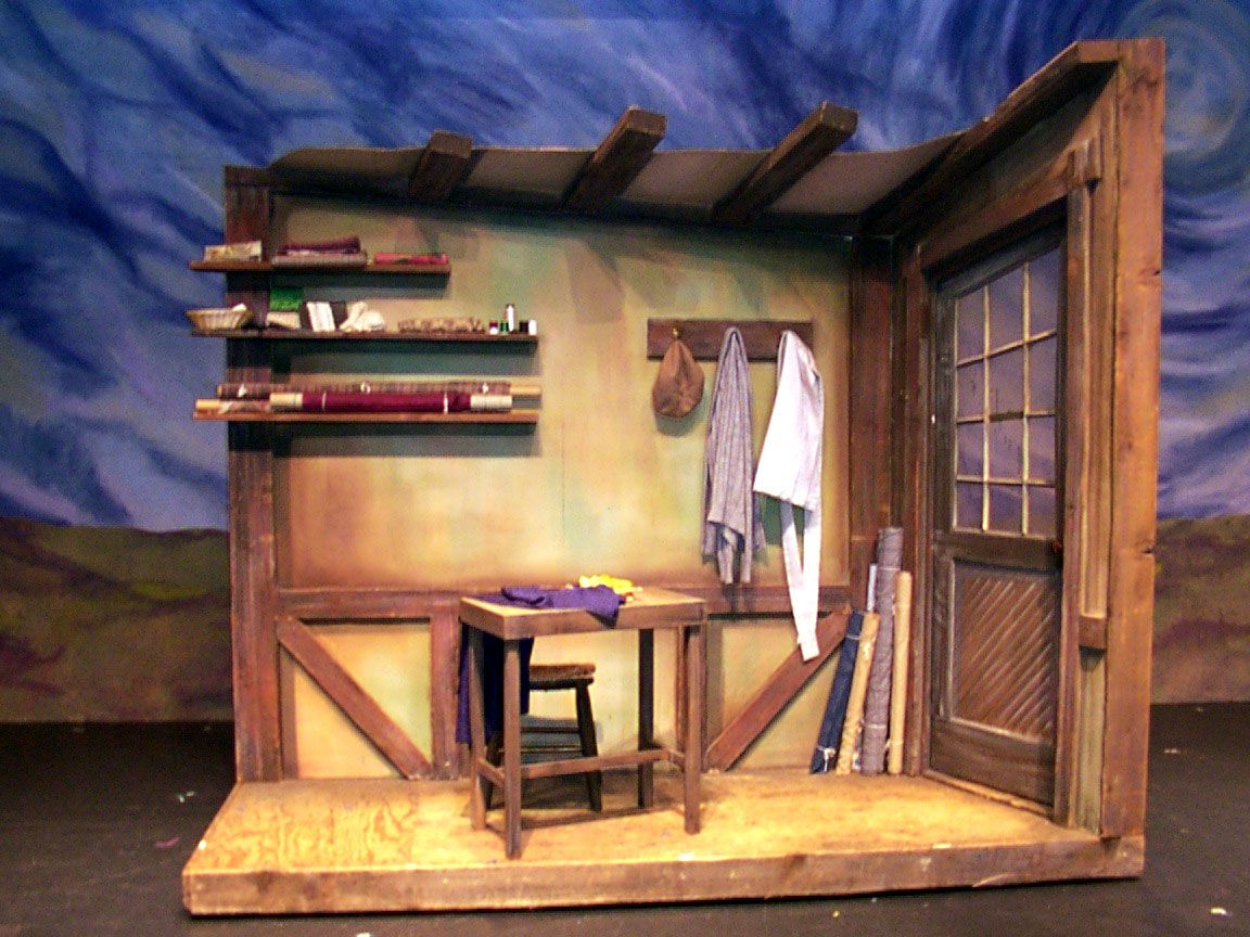 Fiddler On The Roof Set Tailor S Shop With Images Set Design Theatre Fiddler On The Roof Stage Set Design