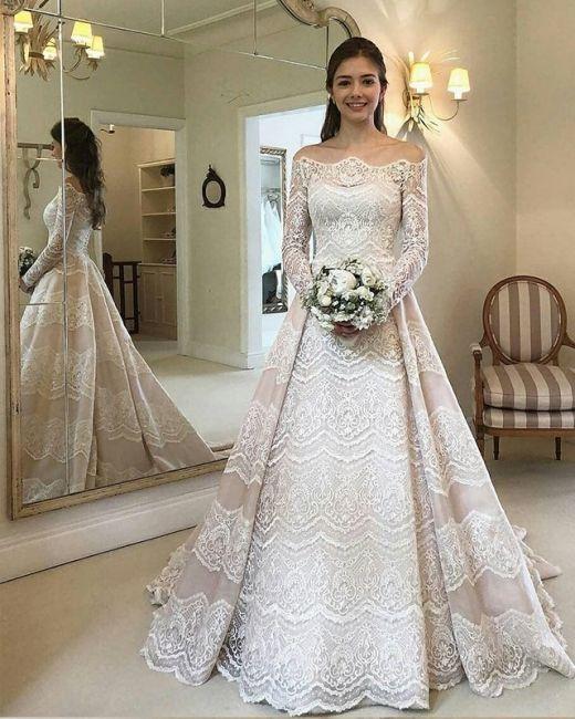 Elegante Brautkleider Mit Armel Spitze Hochzeitskleider Gunstig Online Brautkleider Mit Armel Brautklei Em 2020 Vestido De Noiva Vestido De Casamento Noivas Indianas
