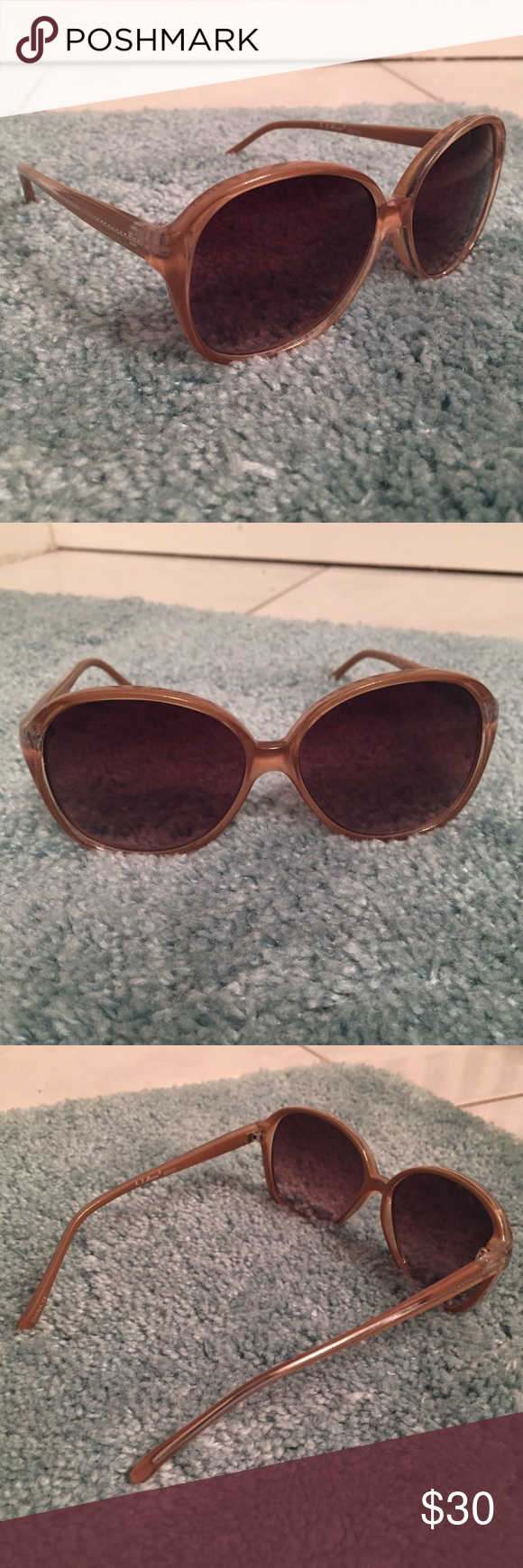 4b07a29d0 A.J. Morgan Sunglasses light brown sunglasses with gold trim, never used  and in perfect condition A.J. Morgan Accessories Glasses