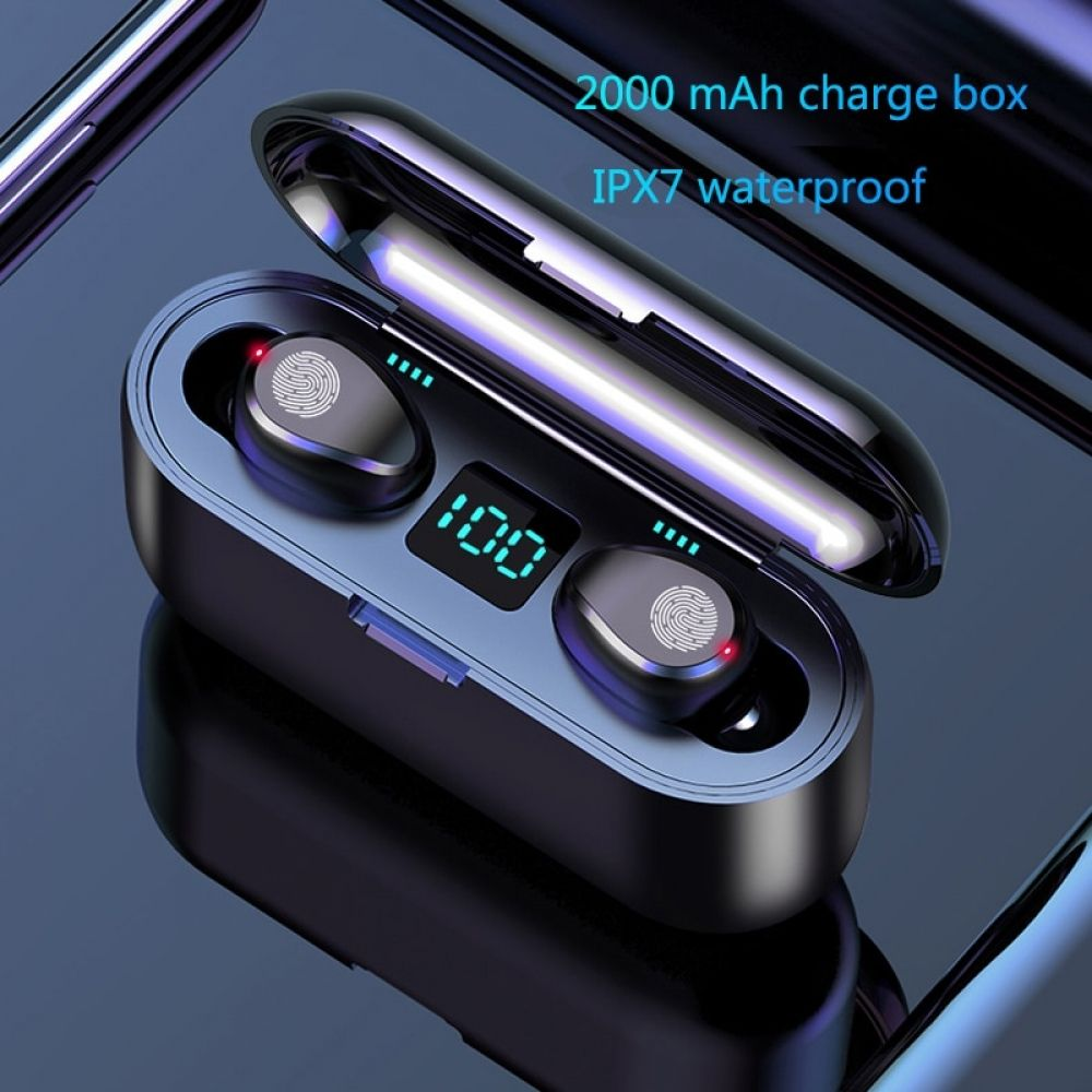 Bluetooth 5.0 Headset TWS Mini Earbuds Wireless Earphone Sport Stereo Headphones