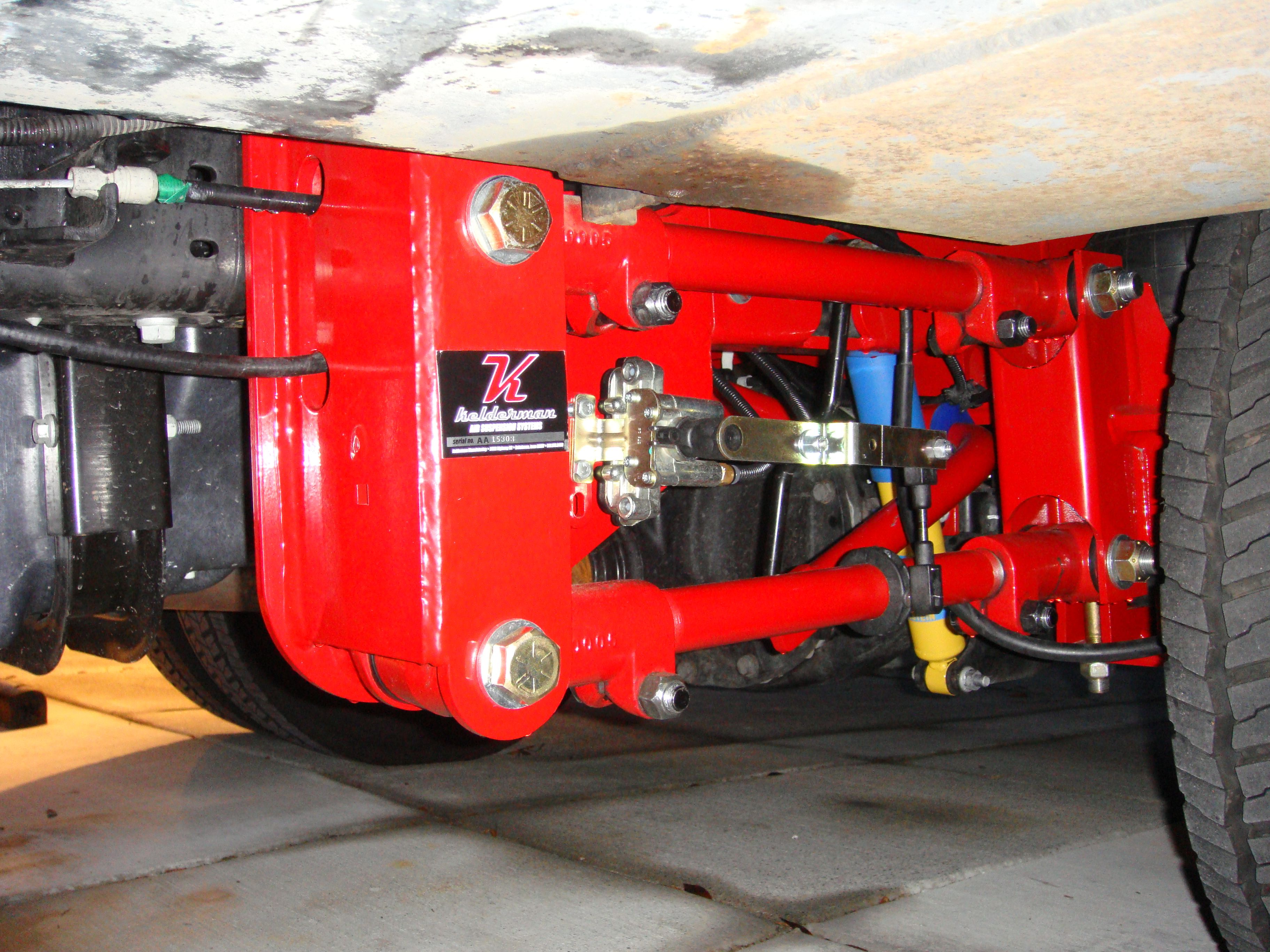 Kelderman Ford F450/550 Cab and Chassis 4Link Rear Air