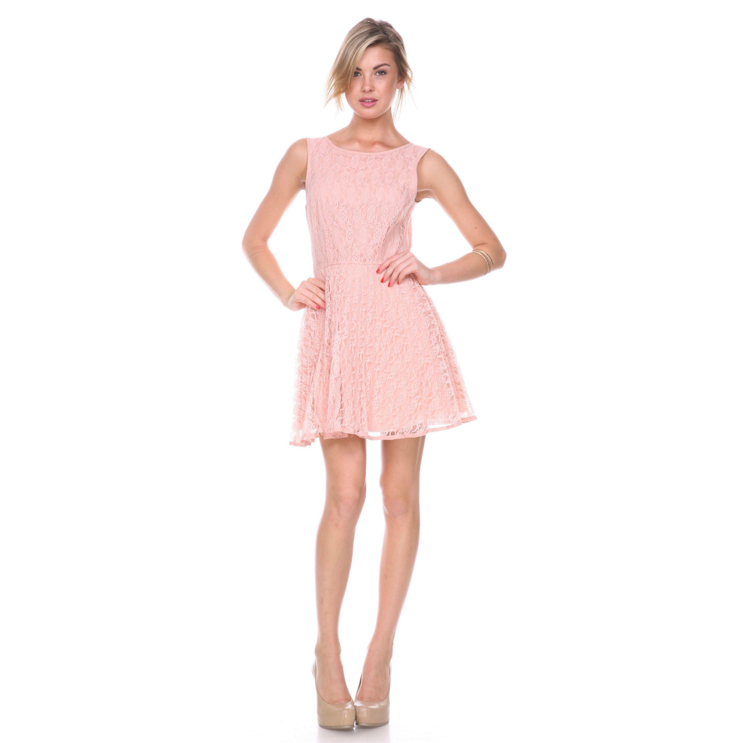 Stanzino Women\'s Sleeveless A line Lace Dress | Products | Pinterest