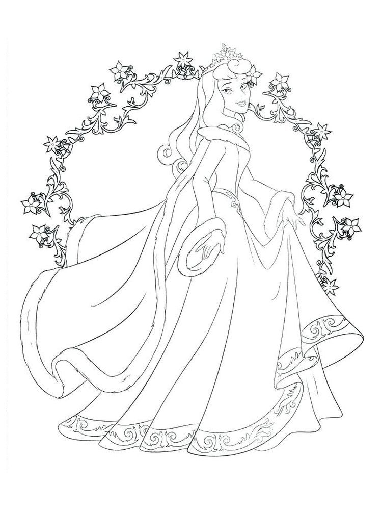 Tiana Coloring Pages To Print Below Is A Collection Of Beautiful Princess Disney Princess Coloring Pages Disney Princess Colors Sleeping Beauty Coloring Pages