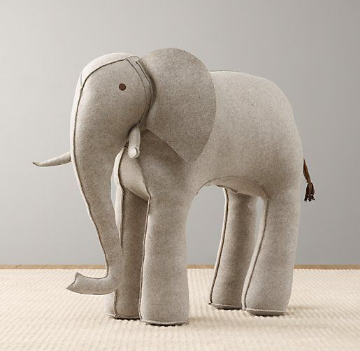 wool felt elephant | Baby | Pinterest | Nähen schnittmuster, Elmar ...