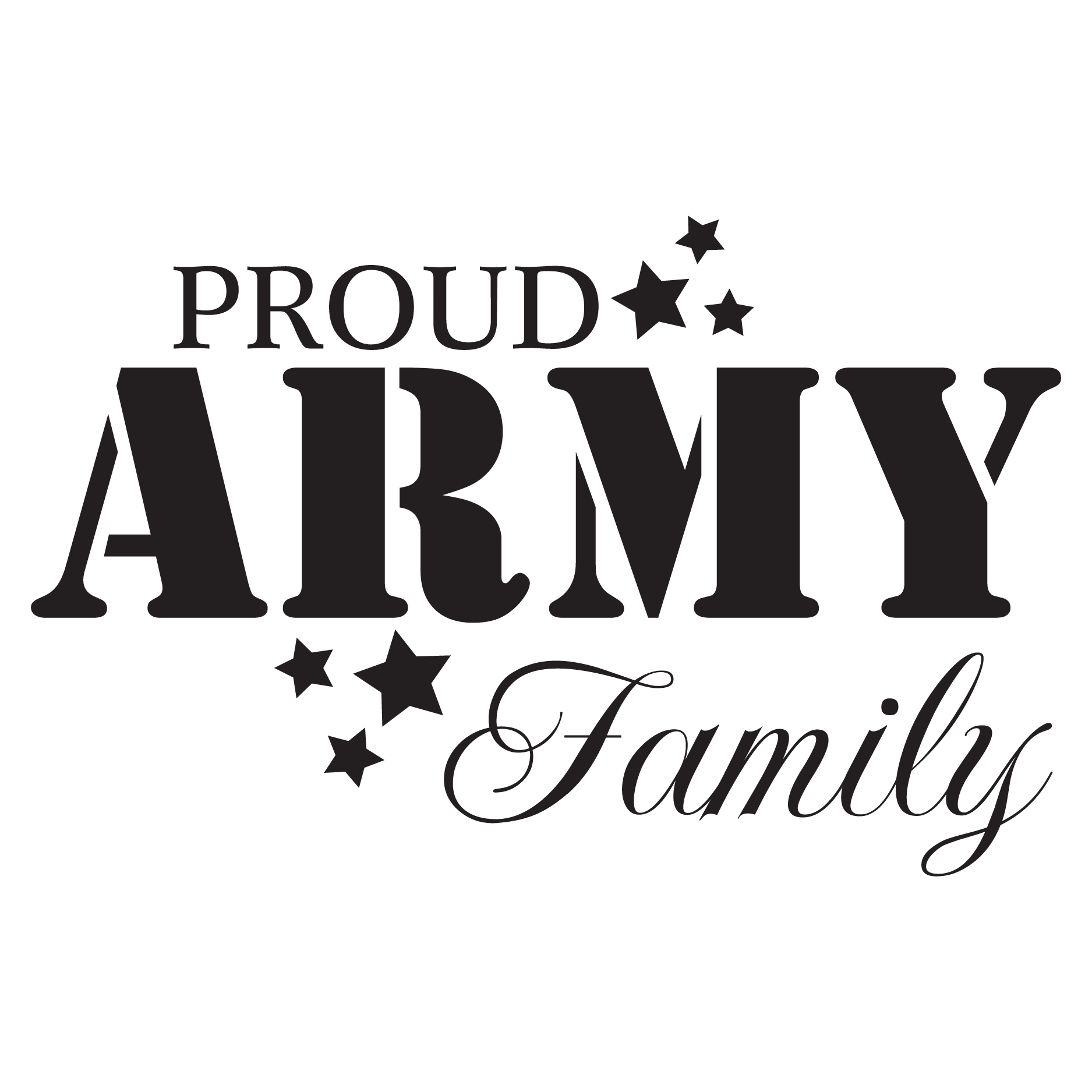 Proud Army Family Stencil
