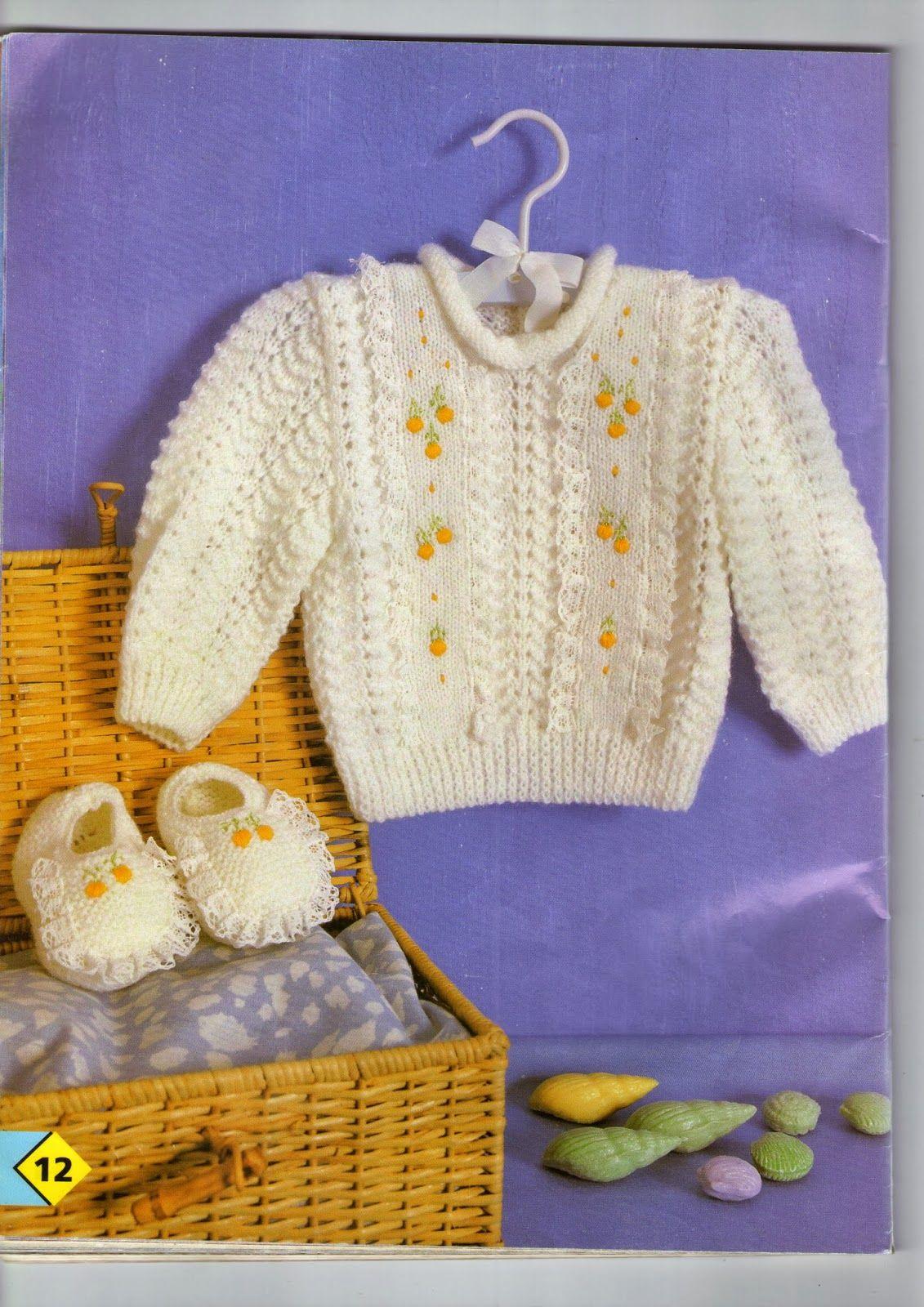 Sandra Roque Artesanatos: blusinha trico com bordado rococó