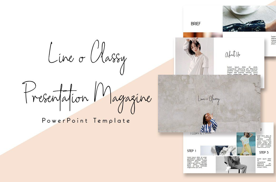 Classy Magazine Powerpoint Template Powerpoint Templates