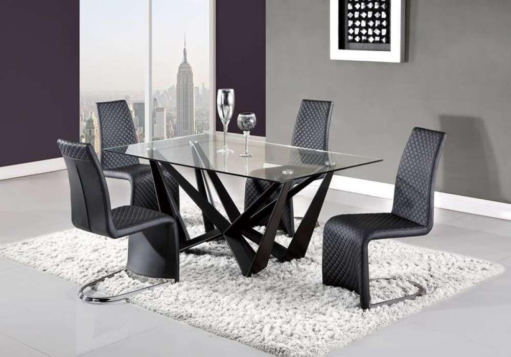 Global Furniture Dining Table Matte Black In 2020 Dining Table