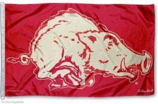 University Of Arkansas Vintage Logo Flag College Flags Vintage Logo University Of Arkansas