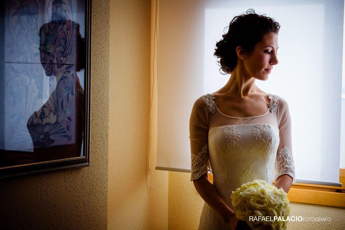 Reportajes de novia. Precioso y elegante retrato