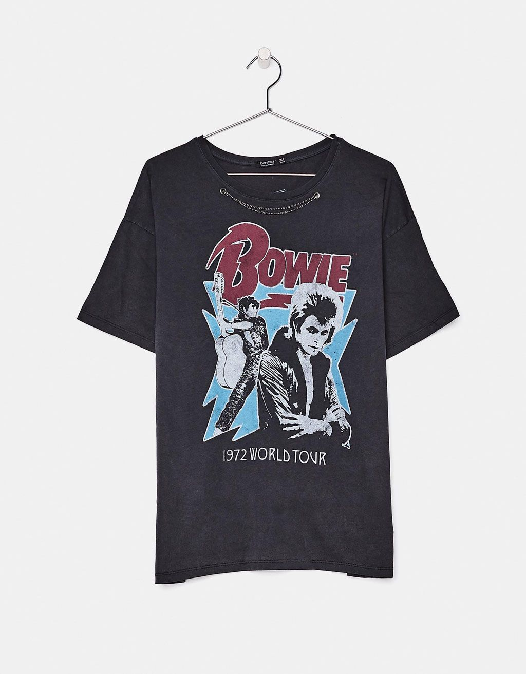 David Bowie T Shirt Discover This And Many More Items In Bershka With New Products Every Week David Bowie T Shirt Clothes Design Vintage Music Tees