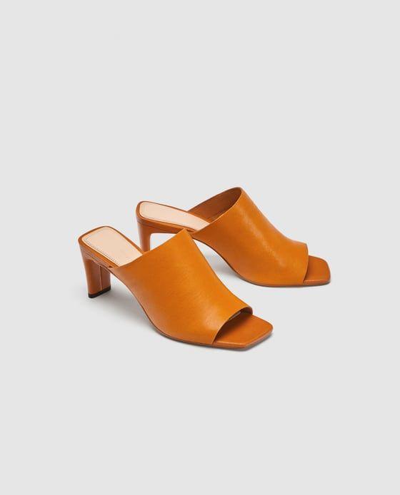Image of 5 of Image SOFT LEATHER MULES from Zara   scarpe   Pinterest   scarpe 75dd0b