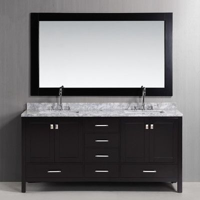 "Found it at Wayfair - 72"" Double Bathroom Vanity Set with Mirror"