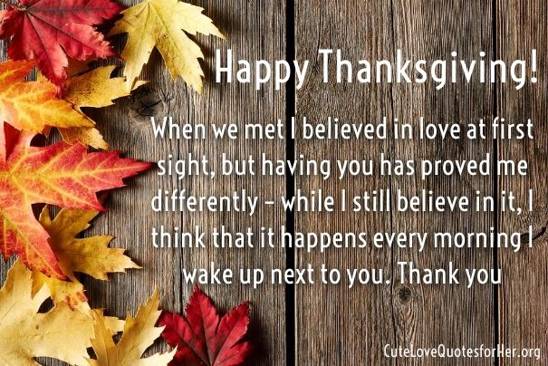Thanksgiving Love Quotes For Husband Boyfriend Thanksgiving Wishes