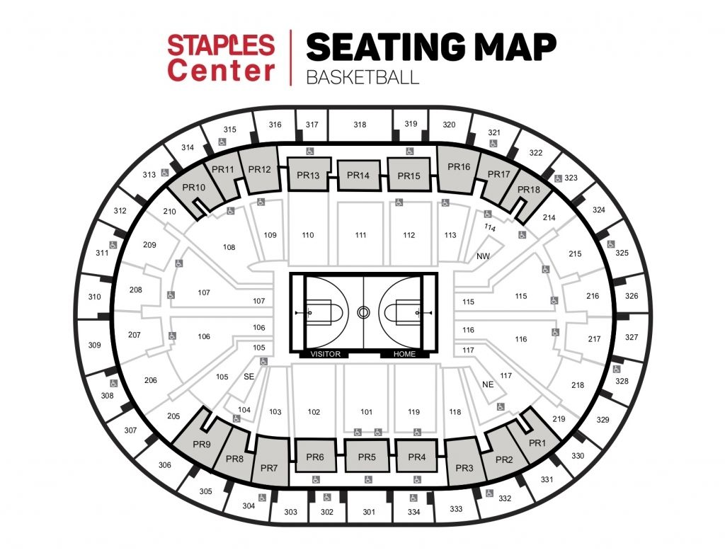 Staples Center Seating Chart Kings Staples Center Seating Charts Chart