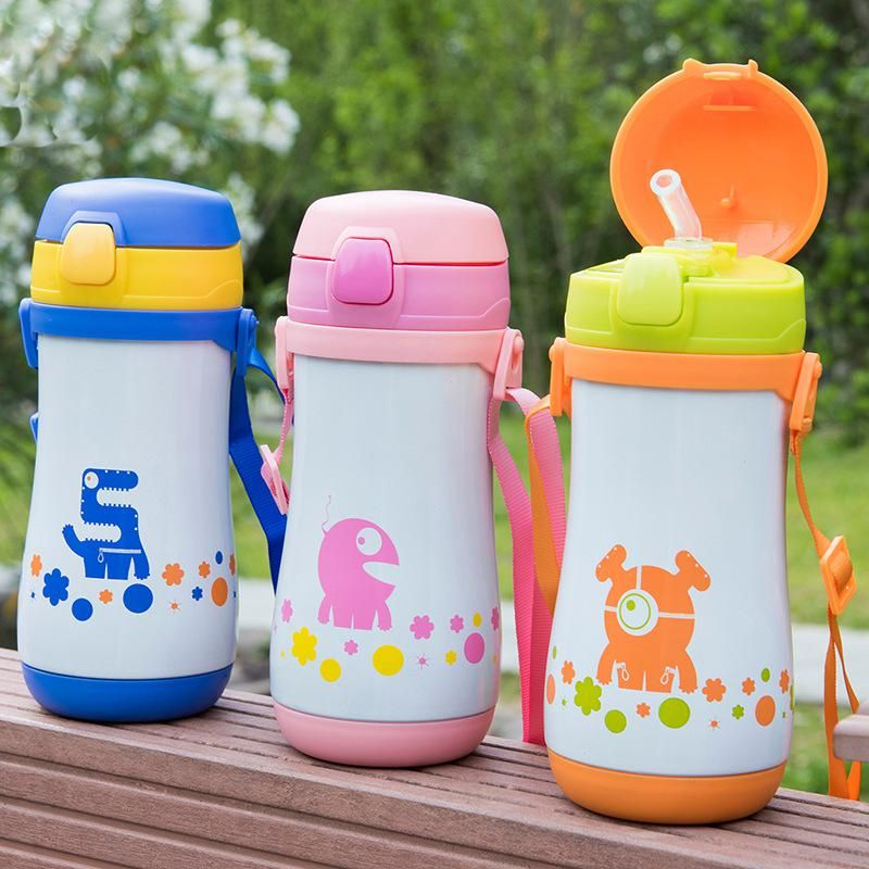 Thermos Cup Baby Bottle Insulated Stainless Steel Straw Vacuum Flask Water Cup