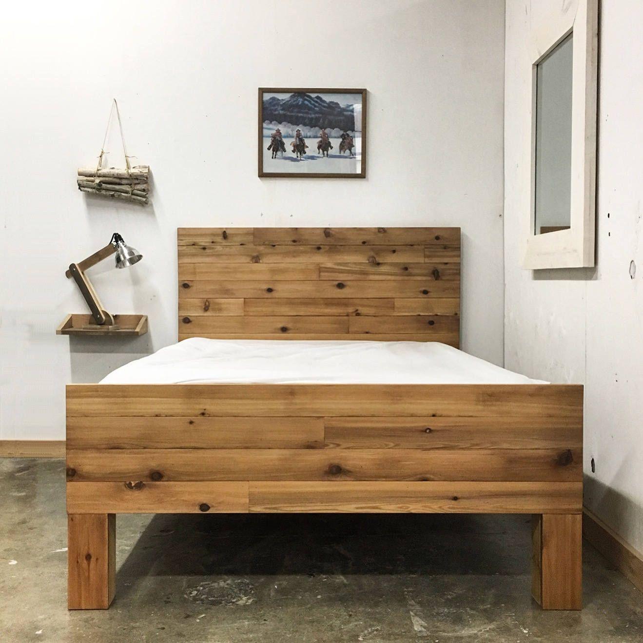 Alpine sleigh platform bed frame u headboard set handmade in