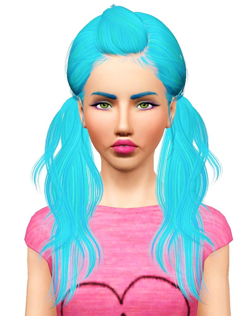 Seaweed hairstyle retextured by Pocket for Sims 3 - Sims Hairs - http://simshairs.com/seaweed-hairstyle-retextured-by-pocket/