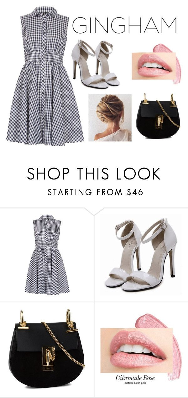 """Gingham."" by dontdanceex ❤ liked on Polyvore featuring Izabel London and Chloé"