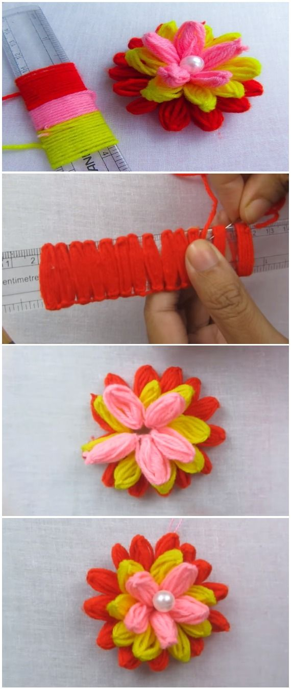 DIY Easy Flower - Hand Embroidery