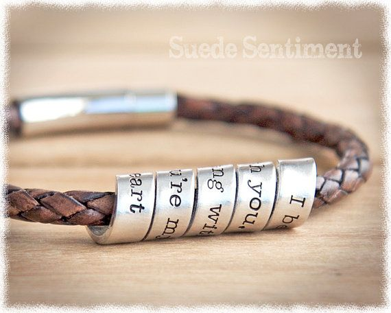 Personalized bracelet Anniversary gifts for men Mens bracelet Personalized gift for boyfriend Gifts for men Groomsmen Boyfriend Gift Personalized Bracelet