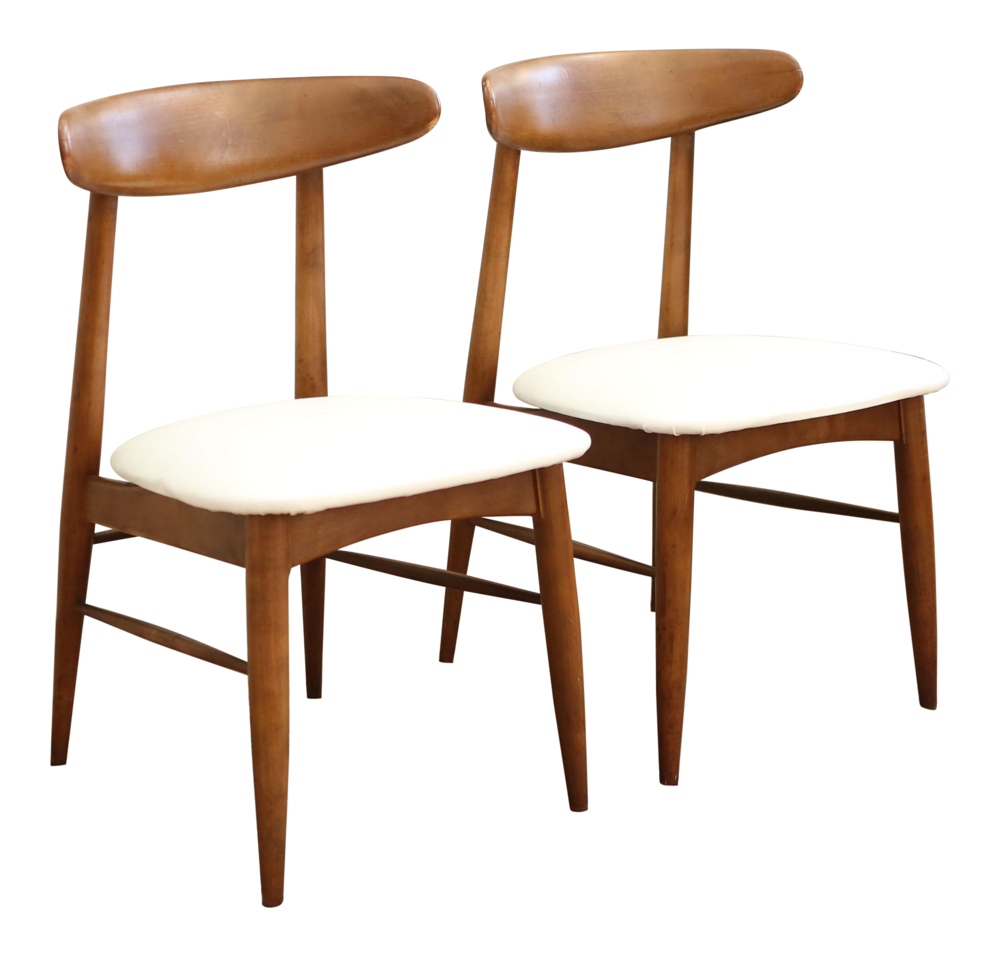 Excellent Vintage Mid Century Modern Scandia Danish Teak Chair Pair Ncnpc Chair Design For Home Ncnpcorg