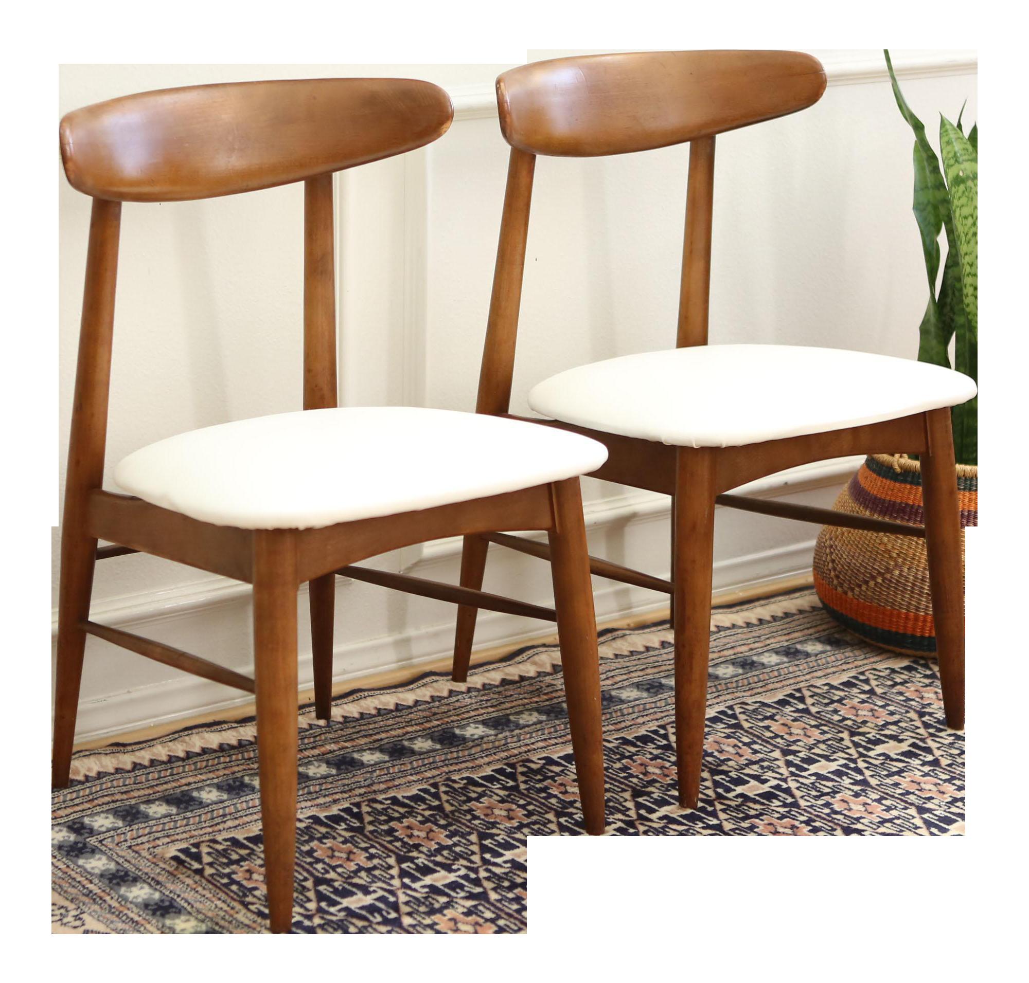 Remarkable Vintage Mid Century Modern Scandia Danish Teak Chair Pair Machost Co Dining Chair Design Ideas Machostcouk