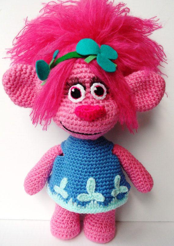Made-to-order Crochet Poppy the Troll. Princess Poppy Handmade Plush