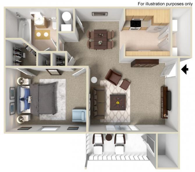 Sapphire I Ii 1 Bedroom 1 Bathroom 685 730 Sq Ft Floor Plans Apartment Floor Plan Apartments For Rent