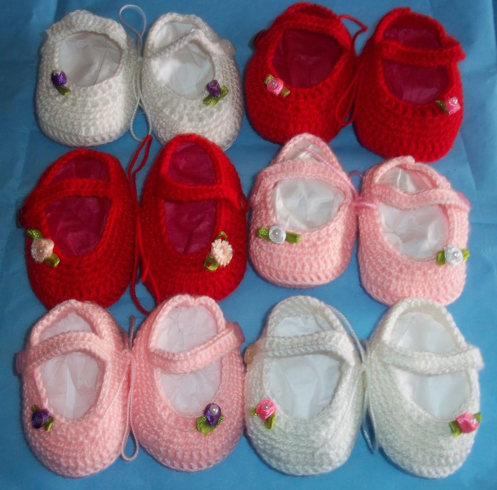 Vistoso Los Zapatos De Bebé Libres Patrón Que Hace Punto Foto ...